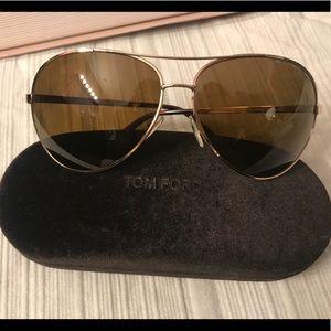 TOM FORD Charles Polarized Aviator Sunglasses